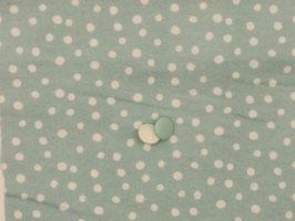 Flanell Punkte hellblau