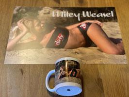 Kaffeetasse und Poster