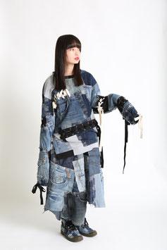 編み編みロングトレーナー