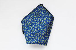 Pañuelo Flores Azul/amarillo
