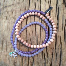 3er Bracelet violett space invader