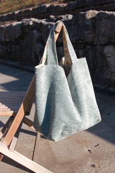 Grand sac femme fleurs intérieur/velour extérieur