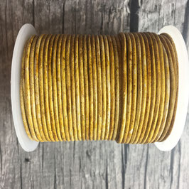 Rundleder 2mm Vintage Hazelnut