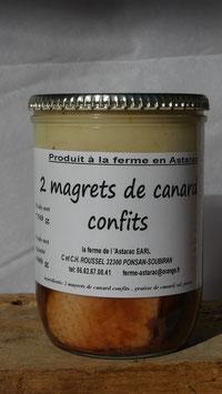Magrets de canard confit