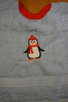 SCHLUPFLATZ klein hellblau mit Pinguin