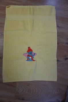 KINDER-HANDTUCH gelb mit Elefäntli