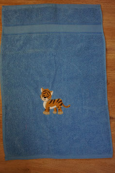 KINDER-HANDTUCH blau mit Tiger