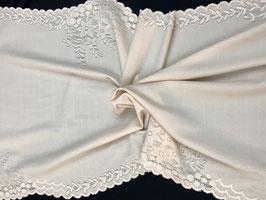 Lingerie Stoff, mittelfein, creme 50 cm breit, Spitzenabschluss auf beide Seiten