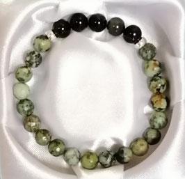 Bracelet Turquoise, Obsidienne œil céleste