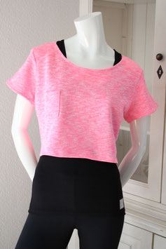 "Crob  Top "" pink and white"""