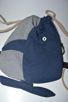 Beutel Moby Dick (blau)
