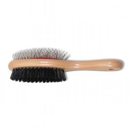 Wooden handle brushes
