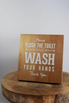 Panneau carré Wash Your Hand