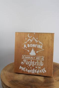 Panneau carré Bonfire