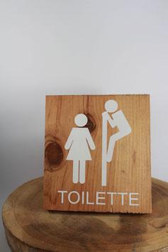 Panneau carré Toilette
