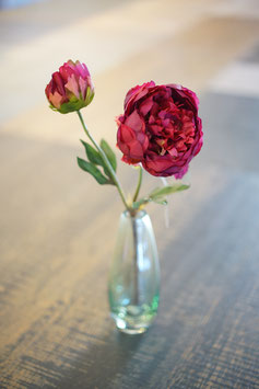 Pfingstrose mit 2 Blüten 38cm