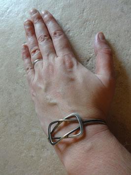 Bracelet graphique argent