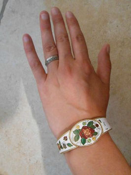 Bracelet émaillé blanc