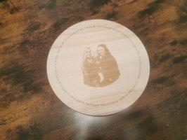 Brotzeitbrettl groß mit Fotogravur