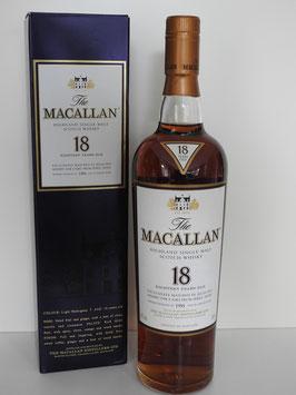 Macallan 18 Jahre Sherry Oak 1991,  0,7l, 43,0%