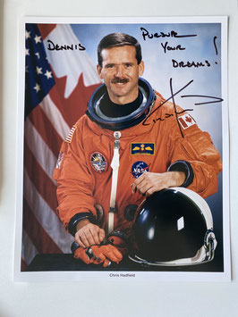 Chris Hadfield, Signed official NASA Photo
