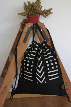 Rucksack 'Geometrisches Muster schwarz-weiß'