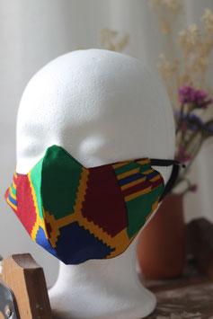 Mundbedeckung/Behelfsmaske geometrisches Muster (groß)