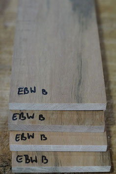 Griffbrett Ebenholz Weiß B-Ware