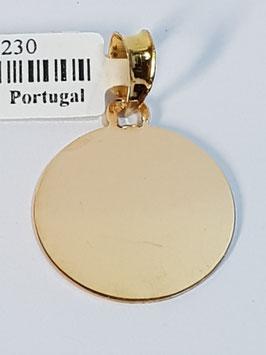 Berloque medalha lisa 14/16/20 - FIN