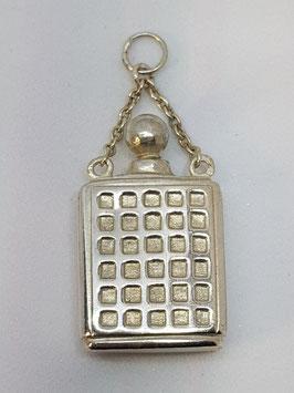 Frasco Perfume Prata - Quadrados - ANT
