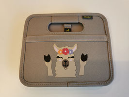meori Faltbox Mini Animal Print Llama Stone Grey