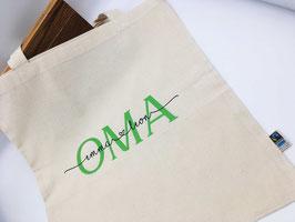 OMA Tasche mit Namen Bio-Baumwolle