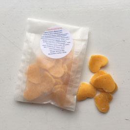Ersatzpaket für Weckgläser mit kleinen Seifchen mit Orangenduft  in Herz oder Kreisform