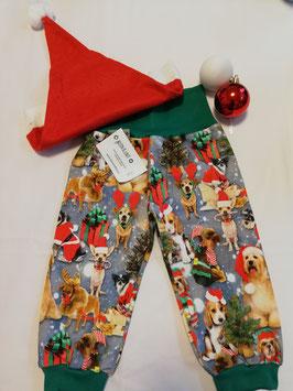 Pumphose Weihnachtshunde Jersey