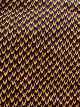 # 62 - Tissu WAX pagne africain 182X118CM -  100% Coton- African Print - Epi