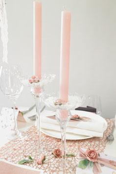 Kerze und Kerzenständer
