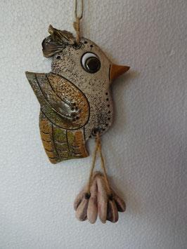 Uccellino H 15 cm., L 9 cm., P 1 cm. (circa)