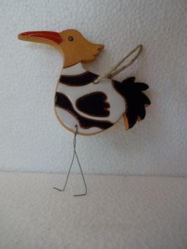 Uccello da appendere H. 12 cm. (compreso zampe), L 10 cm. (circa)