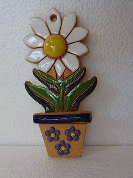 Vaso margherita da appendere H. 12,5 cm., L 6 cm. (circa)