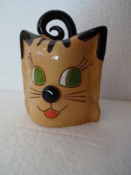 Campanella gatto H. 8 cm., L 6 cm., H 4 cm. (circa)
