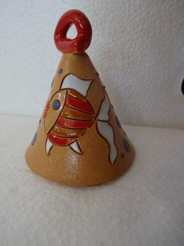 Campanella con pesciolini H 8 cm., diametro 6,5 cm. (circa)