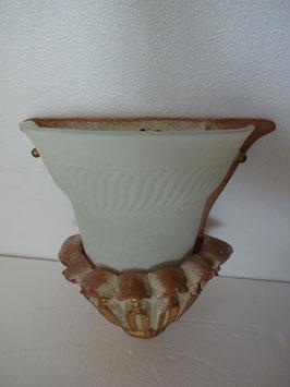 Applique carrè con vetro art. 120 cm. 27x26