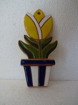 Vaso tulipano da appendere H. 12,5 cm., L 6 cm. (circa)