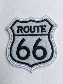 Route 66 embleem applicatie wit