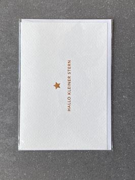"""Kupfergold Klappkarte mit Umschlag """"Hallo kleiner Stern"""""""