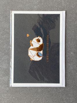 """Kupfergold Klappkarte mit Umschlag """"Lieblingsmensch"""""""