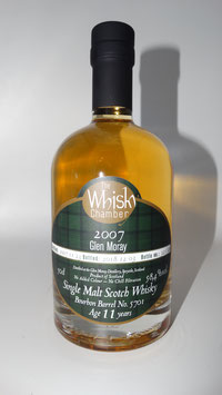 Glen Moray (TWC) 2007, 11 Jahre, 58,4%vol, ex Bourbon barrel - SPEYSIDE - 0,5l