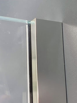 Mini-Klemmprofil-Set 2-teilig mit eckigen Abdeckprofilen, Typ Smart für Glasdicke 8 und 10 mm, Art.Nr. GTW0