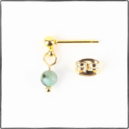 KATIE  - AFRICAN TURQUOISE EARRING