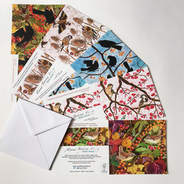 Garden Bird Groups Multipack Art Cards